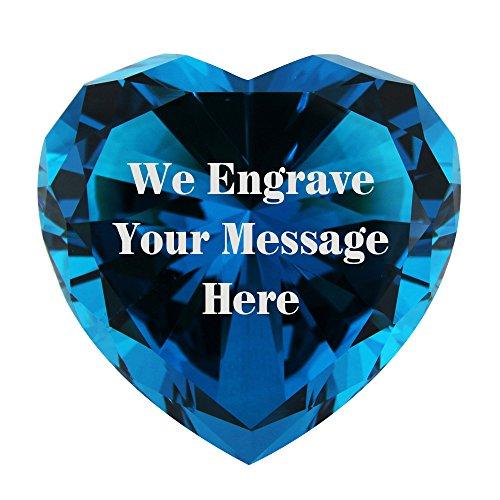Personalized Custom Engraved Crystal Diamonds (TURQUOISE)