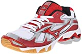 Mizuno Women's Wave Bolt 5-W Volleyball Shoe, White/Red, 9