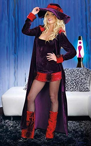 New Sexy Women Adult Halloween Cosplay Costume Dreamgirl 8856 Pimp HO Party NIP -