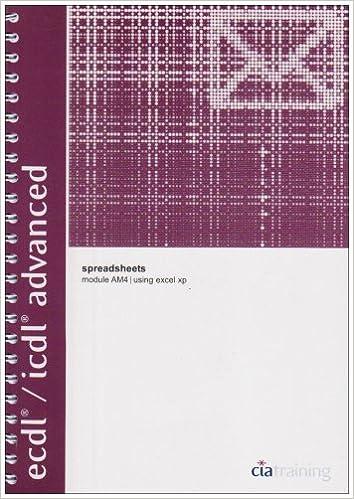 amazon ecdl icdl advanced syllabus 1 5 module am4 spreadsheets