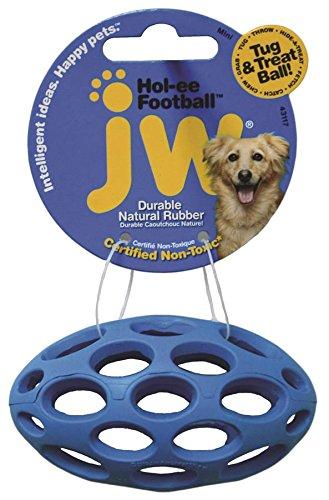 JW Pet Company Mini Hol-ee Football Dog Toy, Colors Vary
