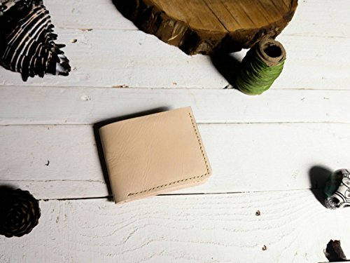 Amazon.com: Tan wallet | mens wallet | Gift | without logo| father | boyfriend | card holder | Cartera hombre piel para tarjetas hecha a mano cuero: ...