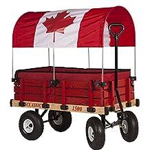 Millside Industries Canadian Flag Canopy Wooden Wagon