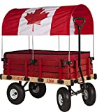 Millside Industries Canadian Flag Canopy Wooden Wagon