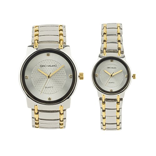 Her Couple Watches (His her metal watch (Two-Tone))
