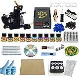 ITATOO® Complete Tattoo Kit 1 Pro Machines 10 Color Inks Power Supply 30 Needles TK1000009