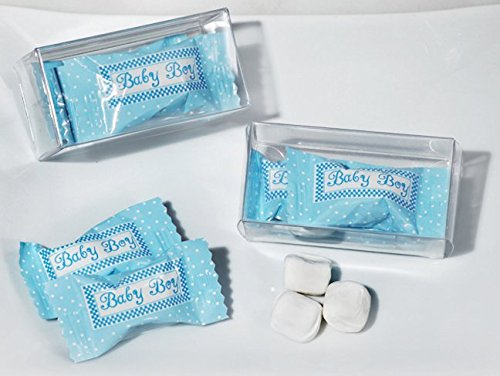 Mint Candy Favors with Pvc Gift Box Baby Boy Design