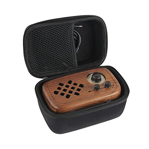 Walnut Wood Case - Hard EVA Travel Case for Rerii Handmade Walnut Wood Portable Bluetooth Speaker by Hermitshell