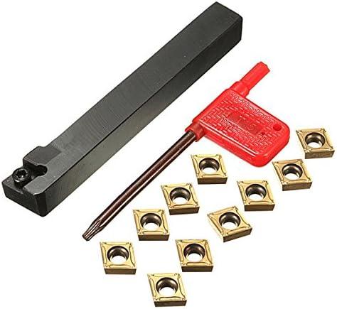 10pcs CCMT09T304 の挿入物が付いている Queenwind SCLCL1212H09 のホールダーの外的な糸の回転用具のホールダー