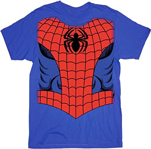 Marvel Comics Spider-man Red/Blue Costume T-Shirt Tee (Juvy 4T)