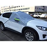 IZTOSS Car Windshield Snow Cover Sun Shade Protector-Winter Snow,Ice,Rain,Dust Frost Guard and Windproof