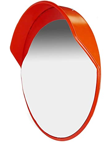 PrimeMatik - Espejo convexo para señalización seguridad y vigilancia de 60 cm
