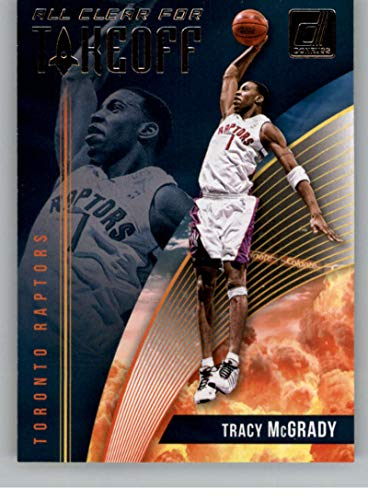 (2018-19 Donruss All Clear for Takeoff Basketball Insert #10 Tracy McGrady Toronto Raptors Official NBA Trading Card Produced By)