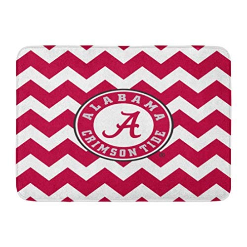 - Tollyee Custom Doormats Alabama Crimson Tide Circle Home Door Mats 23.6x15.7inch inches Entrance Mat Floor Rug Indoor/Outdoor/Front Door/Room Mats Rubber Non Slip