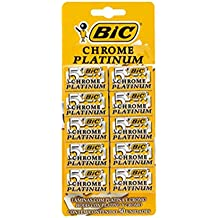 Lâmina de Barbear Bic Crome Platinum com 50