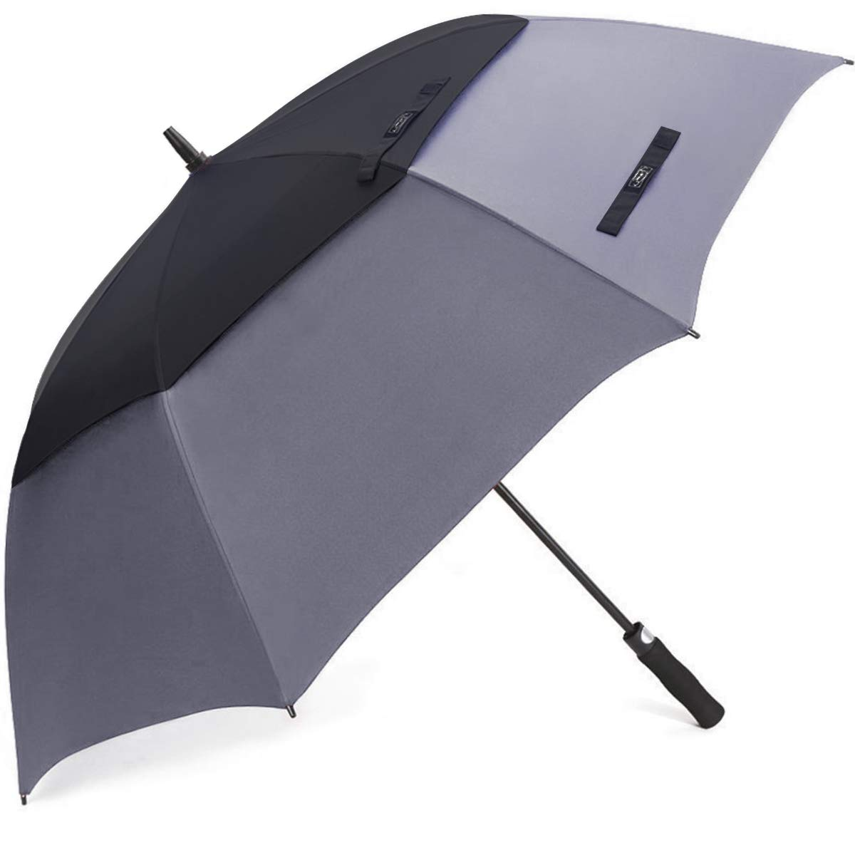 G4Free 68 Inch Automatic Open Golf Umbrella Extra Large Oversize Double Canopy Vented Windproof Waterproof Stick Umbrellas(Black/Grey) by G4Free