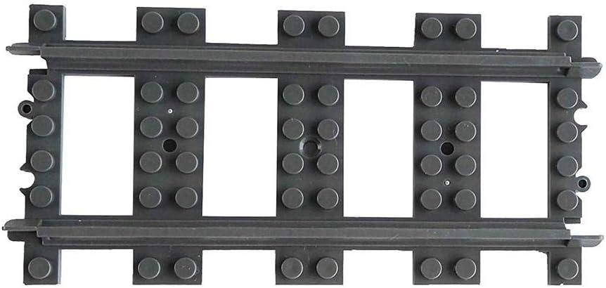 Straight Rail Hearthrousy Compatibile con Veicoli Lego 10 Pezzi Trenino con Binario Curvo Dritto