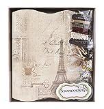 FaCraft Scrapbook kits 8.3x7.9inch,Handmake Scrapbooking Album Book Collection Kit (Eiffel Tower)