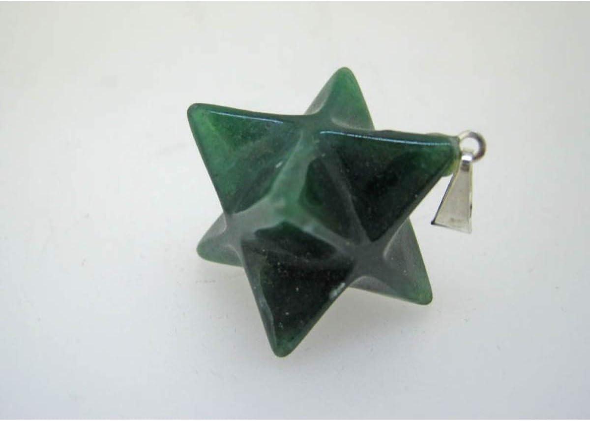 Colgante Merkaba en Cuarzo Verde Minerales y Cristales para Curación, Belleza Energética, Meditacion, Medicina Alternativa, Amuletos Espirituales