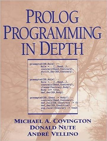 Prolog Programming in Depth: 9780131386457: Computer Science Books