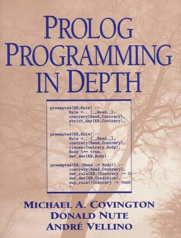 Prolog Programming in Depth by Prentice Hall