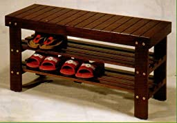 BEAUTIFUL NEW WOODEN SHOE BENCH