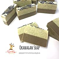Peppermint and Eucalyptus Soap - Cough and Cold Soaps - Pure Essential Oil - Relaxing Soothing Spa Bar - Cruelty Free Soaps - Okanagan Soap