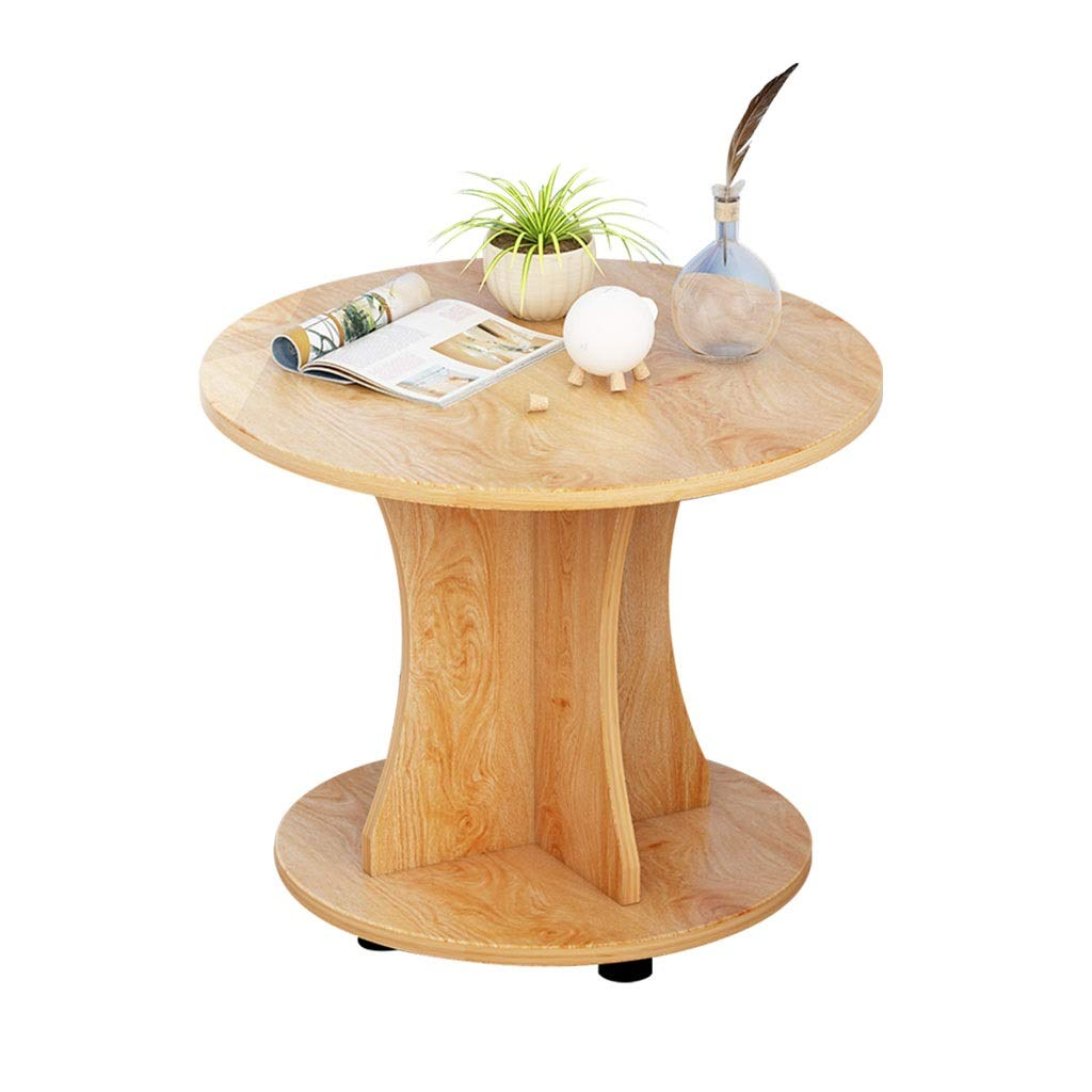 Modern Minimalist Small Space With Pulley Sofa Side Table Removable With Storage Function Round Table Living Room Bedroom Balcony End Table Easy To Assemble ( Color : A , Size : 60cmWithout pulley ) by WDOPZMS