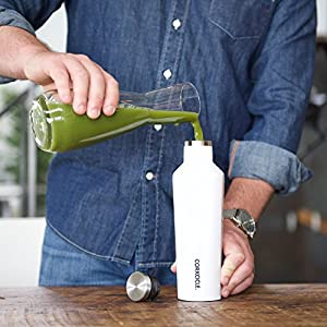 Corkcicle Canteen Waterman Collection-Water Bottle & Thermos-Triple Insulated Shatterproof Stainless Steel, 25 oz, Waterman Olive