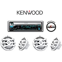 Kenwood KMR-D765BT Marine CD Player with Bluetooth and Two Pairs of Kenwood KFC-1653MRW 6.5 Speakers and a FREE SOTS Air Freshener
