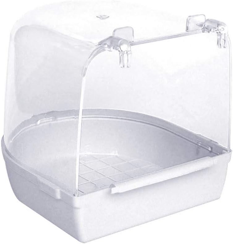 Regard L Aves Bañera Ducha Caja Loro de Limpieza de baño de hidromasaje Colgantes Jaula para Mascotas Wash Suministros