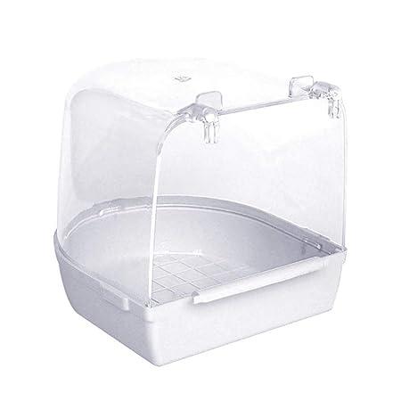 Bomcomi Las Aves de bañera Ducha de la Caja del Loro de Limpieza ...