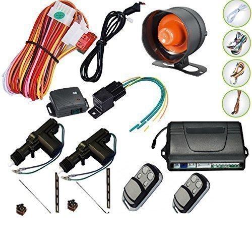 Remote control for central locking set and car alarm for 2 doors, immobiliser, shock sensor