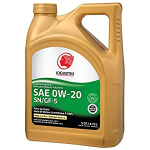 Idemitsu Full Synthetic 0W-20 Engine Oil SN/GF-5-5 Quart