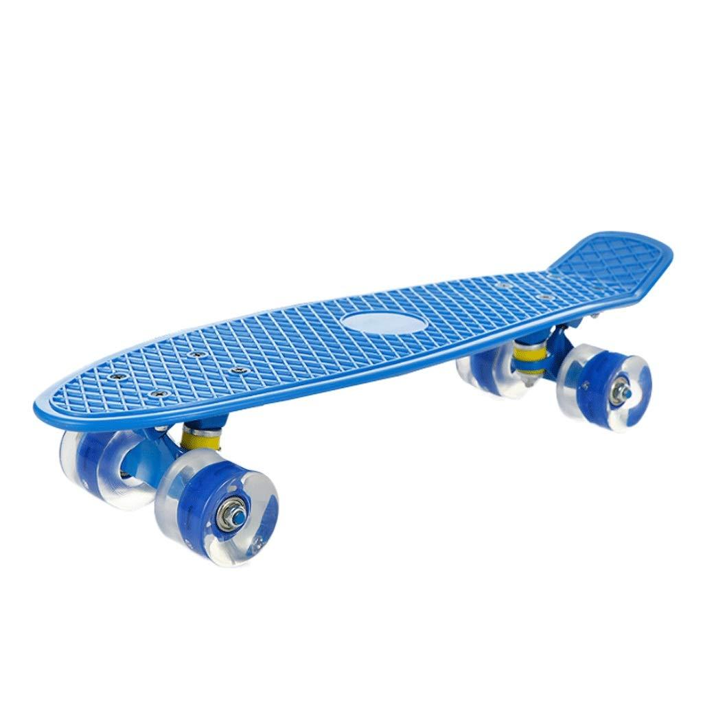 超特価激安 WangYi スケートボード- スケートボード点滅ビッグホイールブラシストリートシングルフィッシュボード子供大人4輪スケートボード 青 (色 さいず : 黒, サイズ さいず : 56x15x9cm) 56x15x9cm) B07NMFW5RN 56x15x9cm|青 青 56x15x9cm, FLASH (オーダーチェーンのお店):43ee5591 --- a0267596.xsph.ru