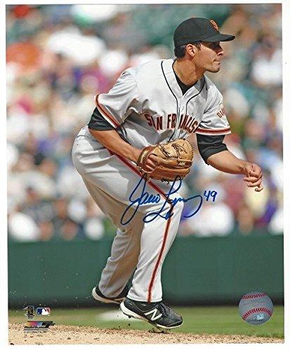 Javier Lopez San Francisco Giants Autographed 8x10 photo Away Jersey
