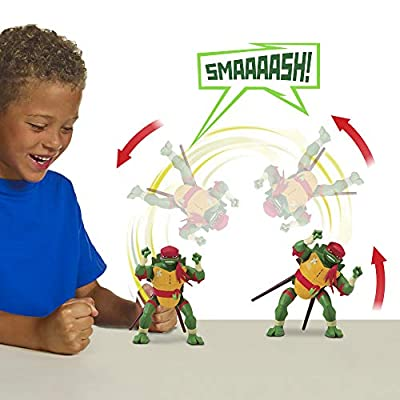Rise of the Teenage Mutant Ninja Turtles Sideflip Attack Raphael Deluxe Figure, Multicolor
