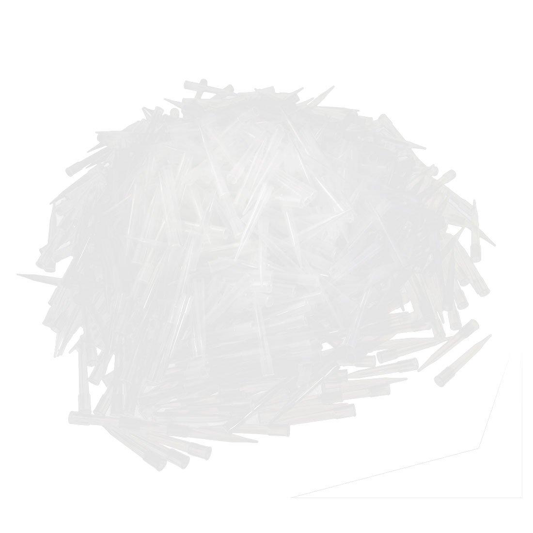uxcell Laboratory Clear Plastic 300UL Liquid Pipette Pipettor Tips 1000 Pcs