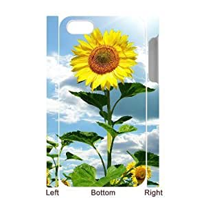 3D Bumper Plastic Case Of Sunflower customized case For Iphone 4/4s