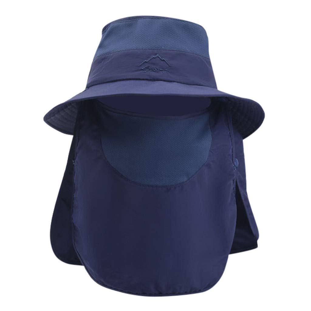 FRAUIT Sombrero de Sol Al Aire Libre Masculino Y Femenino Sombrero de Monta/ña de Color Liso Gran Sombrero Transpirable Gorra de Protecci/ón Solar Ajustable Sombrero de Pescador de Protecci/ón UV
