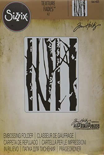 Sizzix 661405 A2 Embossing Folder Birch Trees by Tim Holtz