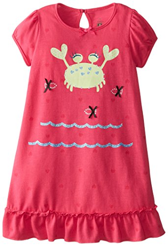Petit Lem Little Girls' Fishes Nightgown, Pink, 4