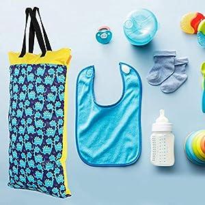 40×70 mm Waterproof Baby Changing Bag, Reusable Large Capacity Baby Diaper Nappy Storage Bag Backpack(EF77)