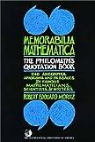 Memorabilia Mathematics, Robert E. Moritz, 0883853213