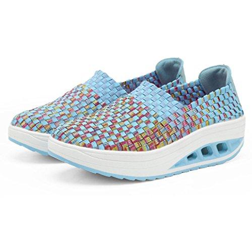 Da Scarpe Corsa Sportive Blu Donna Running Sneakers Eleganti Stringate Beautyjourney Ginnastica Estive pYOqOw