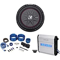 Kicker 43CWRT102 COMPRT10 800w 10 Shallow Subwoofer+Hifonics Amplifier+Amp Kit