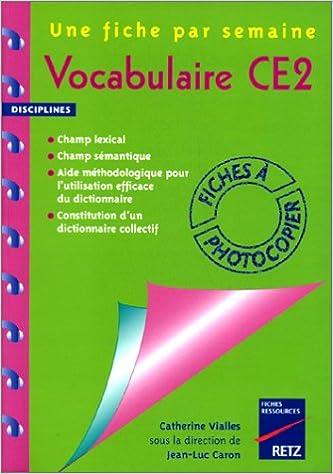 Lire Vocabulaire, CE2 pdf