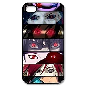 4s Case, iPhone 4 4s Case - Fashion Style New Naruto Painted Pattern Hard Soft Cover For CaseiPhone 4/4s(Black/white)