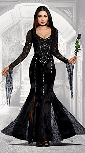Tv Show Characters For Halloween (Dreamgirl Women's Frightfully Beautiful, Black,)