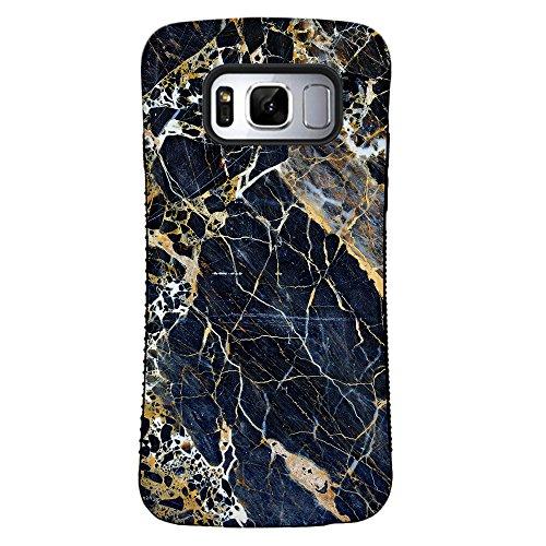 Galaxy S8 Case, ZUSLAB Pattern Design, Shockproof Armor Bumper, Heavy Duty Protective Cover for Samsung Galaxy S8 (Luxury Black)